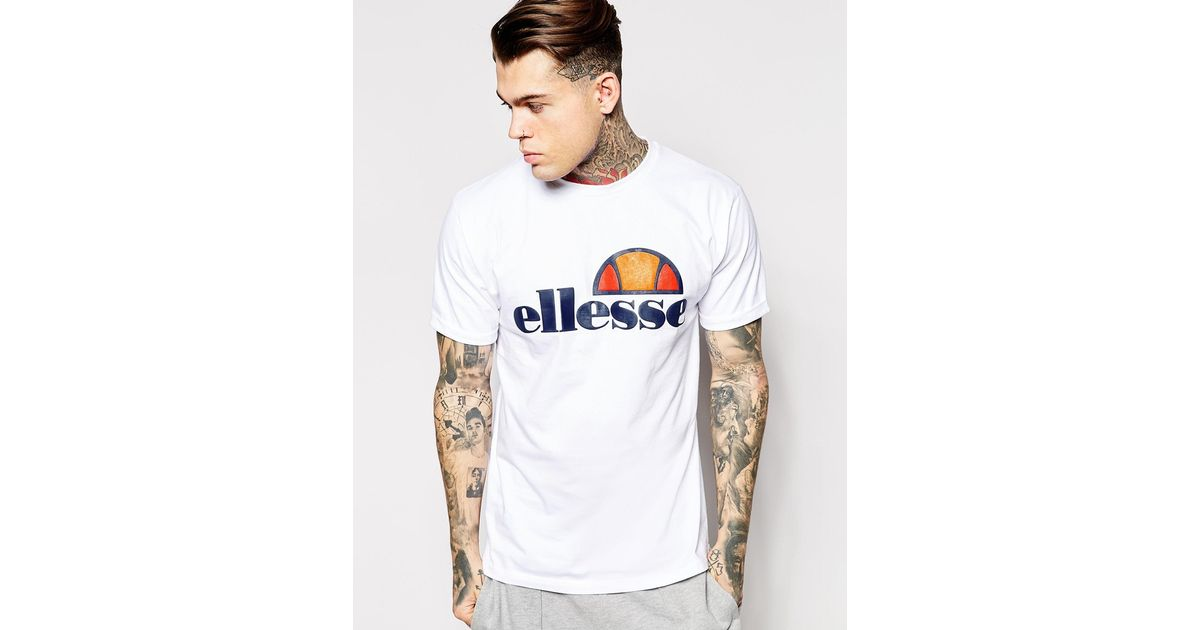 c99ce642 Ellesse White T-shirt With Classic Logo for men
