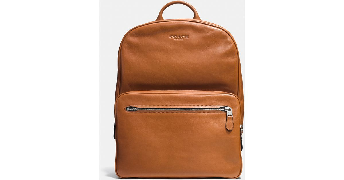 COACH Hudson Backpack In Sport Calf Leather for Men - Lyst 0aa786a29a4b5