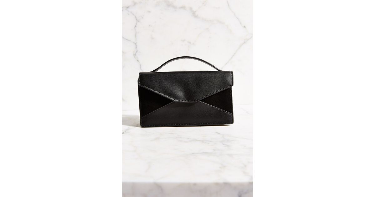 Lyst - Silence + Noise Patchwork Hand Strap Bag in Black e74254aabeba6
