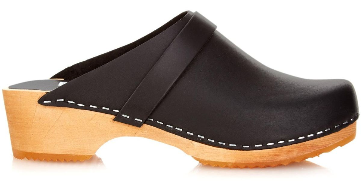 Funkis 63 Leather Clogs In Black Lyst