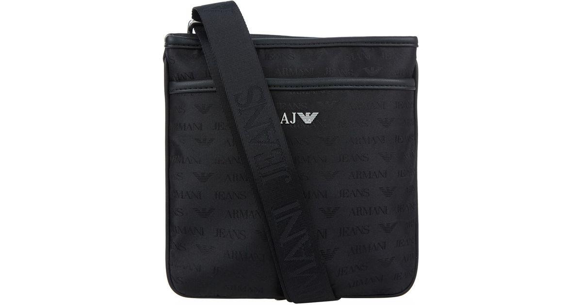 Favorite Lyst - Armani Jeans Logo Print Stash Messenger Bag in Black for Men GO08