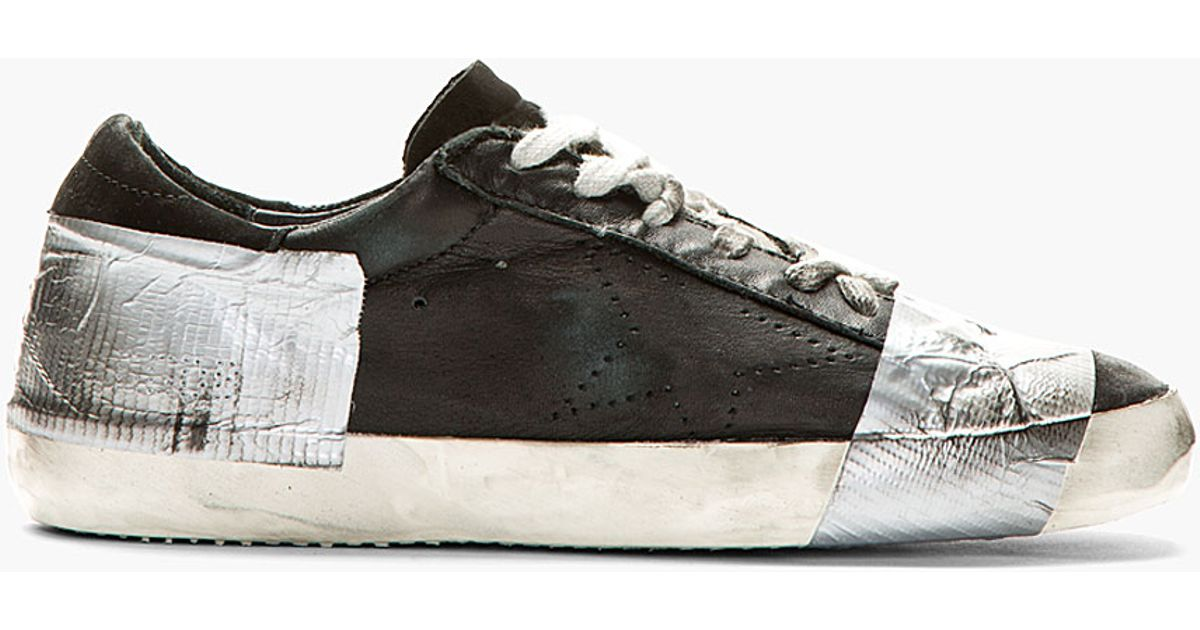 Duct Tape Distressed Superstar Sneakers