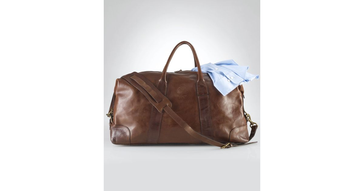 ef15d5e16b3c Lyst - Polo Ralph Lauren Core Leather Duffle Bag in Brown for Men