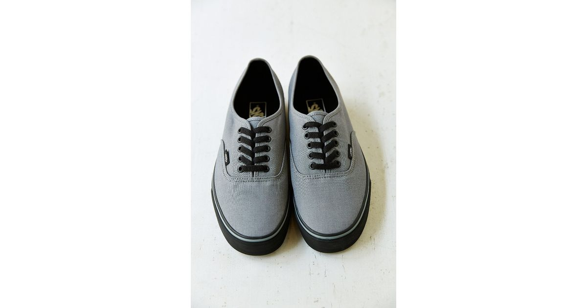 f50960fa25a041 Lyst - Vans Authentic Black Sole Men S Sneaker in Gray for Men