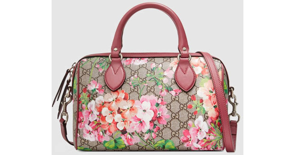 6a38f679976431 Lyst - Gucci Blooms Gg Supreme Top Handle Bag in Pink