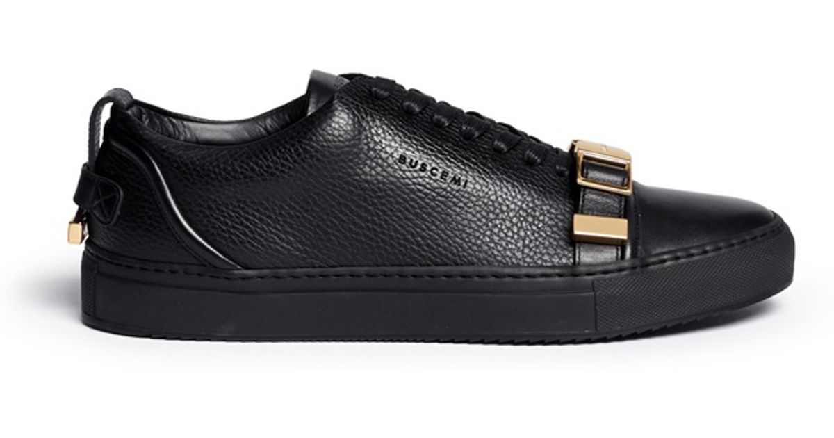 differently 8c427 cd8f9 Buscemi 50MM Leather Low-Top Sneakers in Black for Men - Lyst