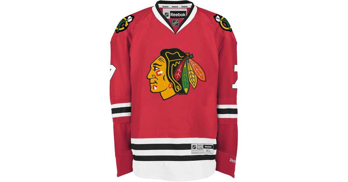 new concept 0e9b8 5b5fd Reebok - Red Men's Brent Seabrook Chicago Blackhawks Premier Jersey for Men  - Lyst