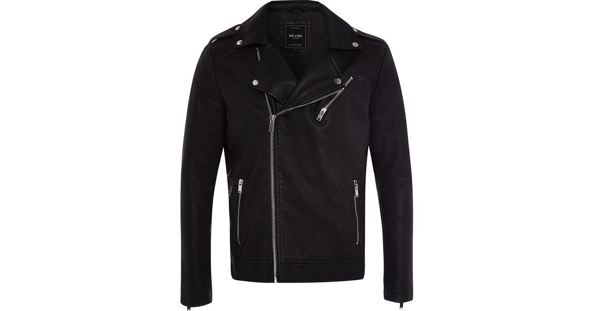 6b489754 Only & Sons Julian Biker Jacket in Black for Men - Lyst