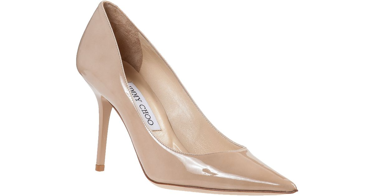 f224527b0a5 Lyst - Jimmy Choo Agnes Pump Nude Patent in Natural