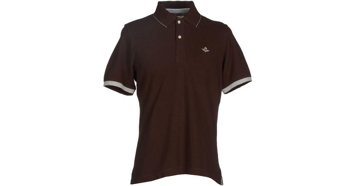 Dekker Polo Shirt In Brown For Men Dark Brown Lyst