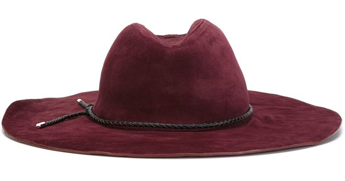478d8077ffcfe Lyst - Emilio Pucci Wide Brim Hat in Red