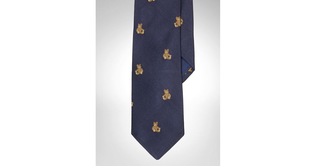 eed525a2b0ec Polo Ralph Lauren Teddy Bear Silk Repp Tie in Blue for Men - Lyst