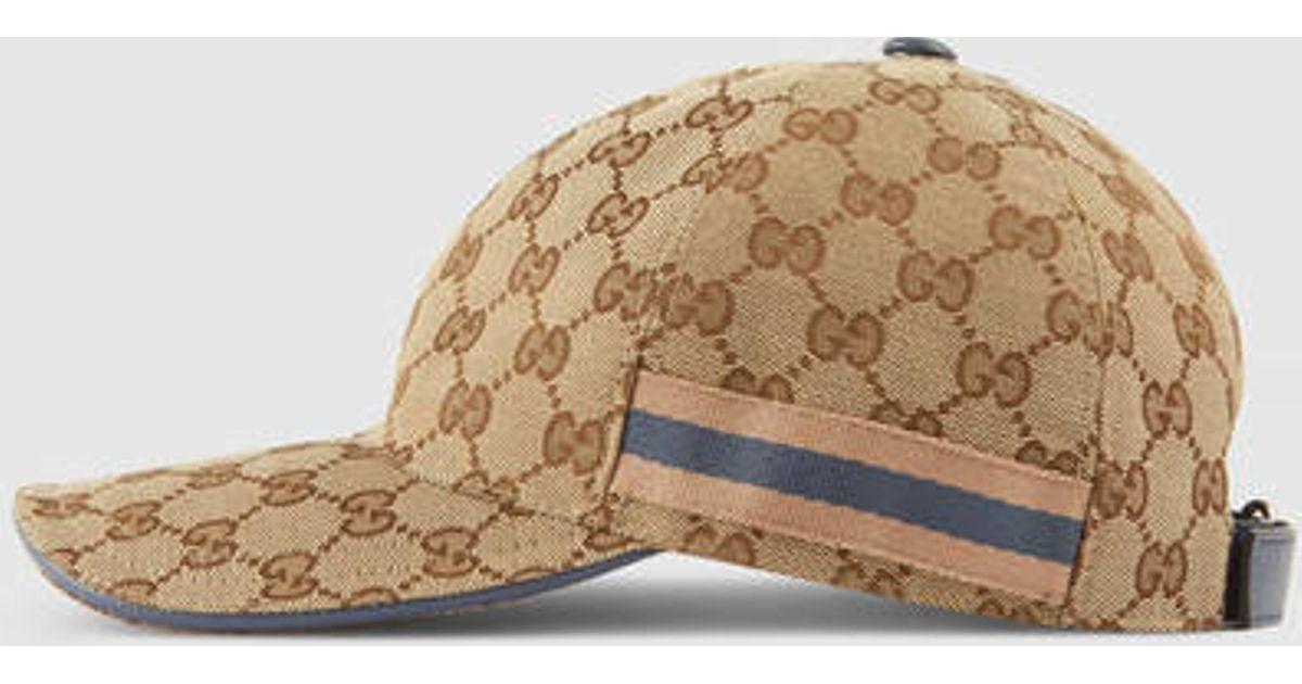 ... Lyst - Gucci Original Gg Baseball Hat in Natural clearance sale 1cc97  a3213  (Mode d1a9e28a442e