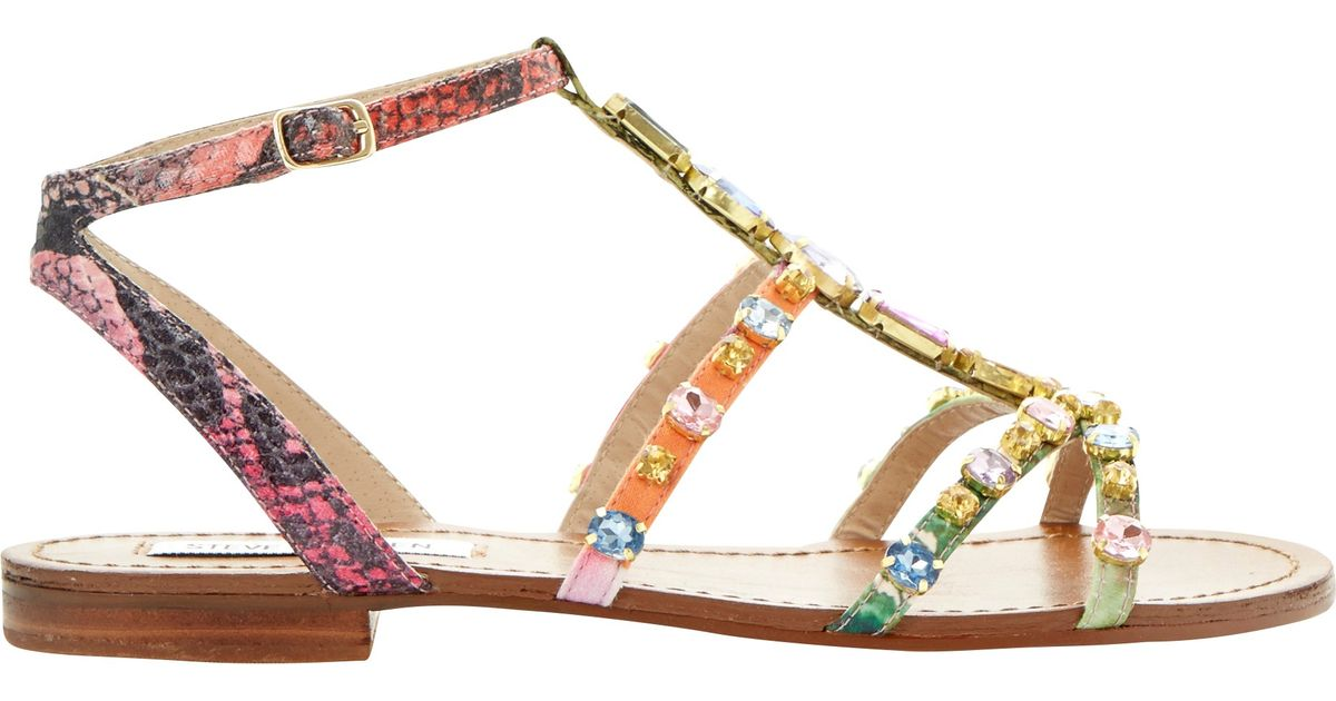 6dbc96a87fcf Steve Madden Jewelled Sandals - Lyst