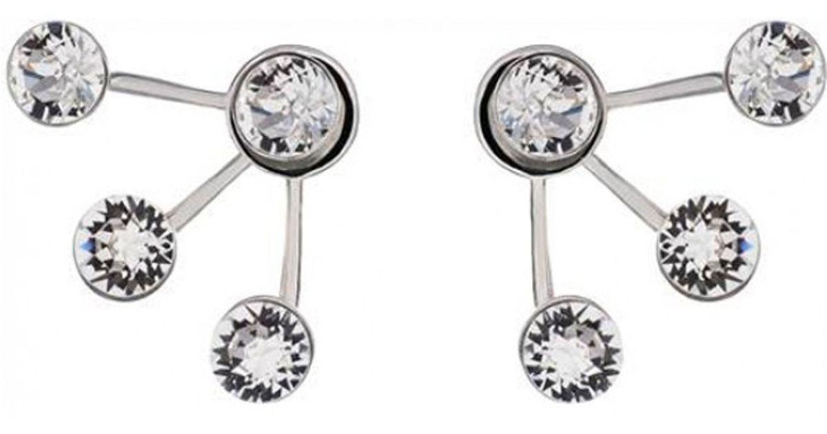 Ca&lou Crystal Pixie Maxi Earrings in Metallic
