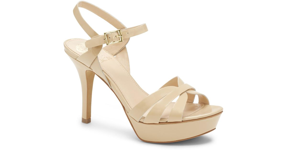 Vince Camuto Leather Peppa Strappy Platform Sandal In