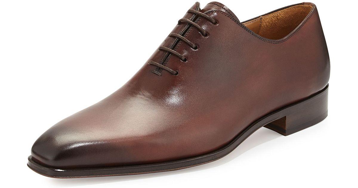 ff3eee8e562 Neiman Marcus Brown Vekio Calfskin Lace-Up Dress Shoe for men