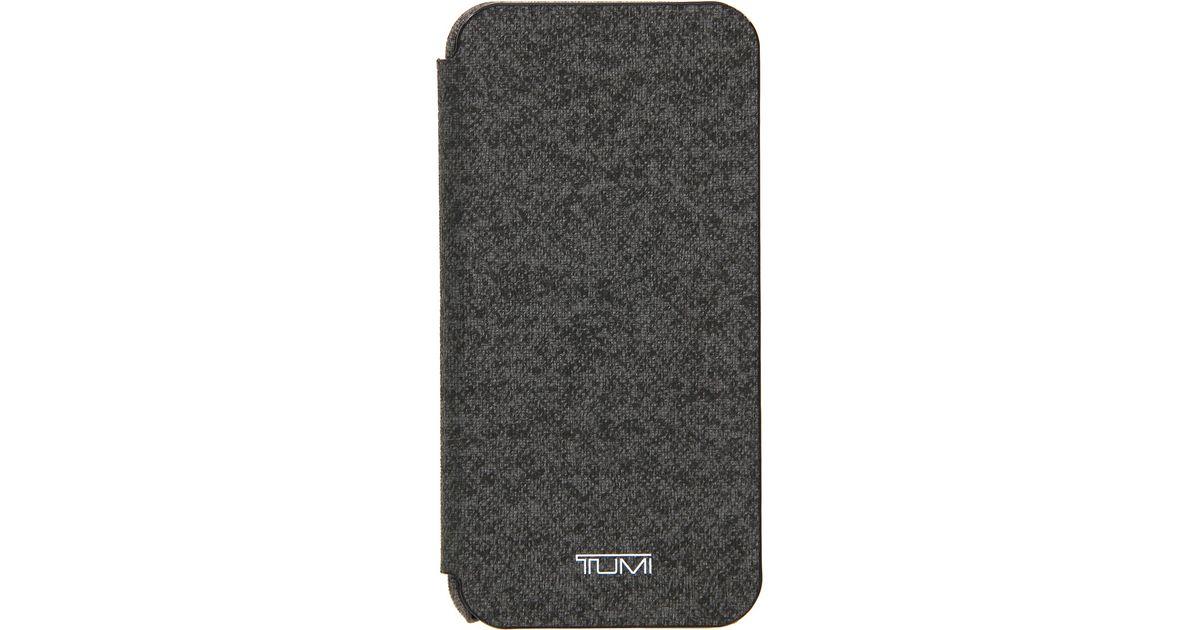 super popular 687bf ec4c0 Tumi Gray Folio Snap Case For Iphone 6