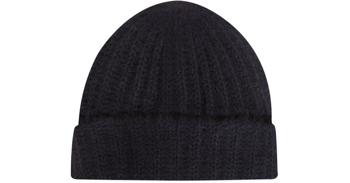 Lyst - Agnes B. Blue Angora Edween Beanie Hat in Blue for Men bf99e3d88e1