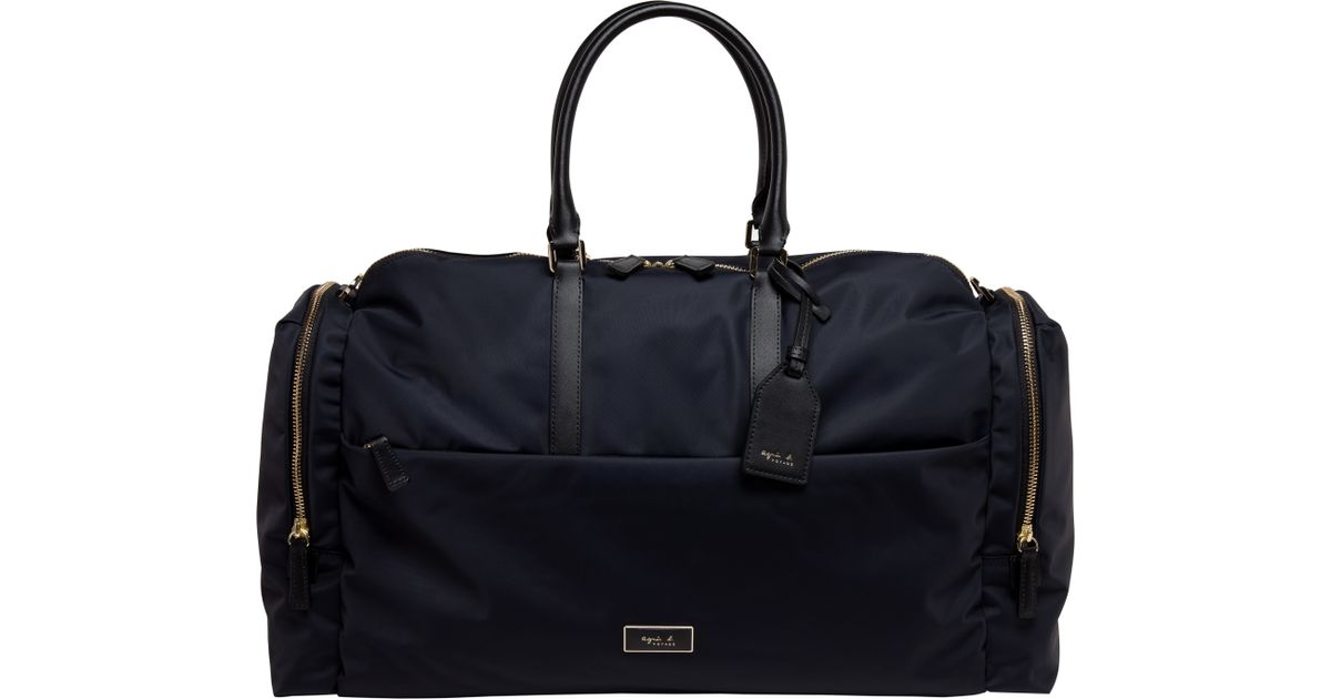 Agnès B. Black Travel Boston B Bag in Black - Lyst 9065a846708f3