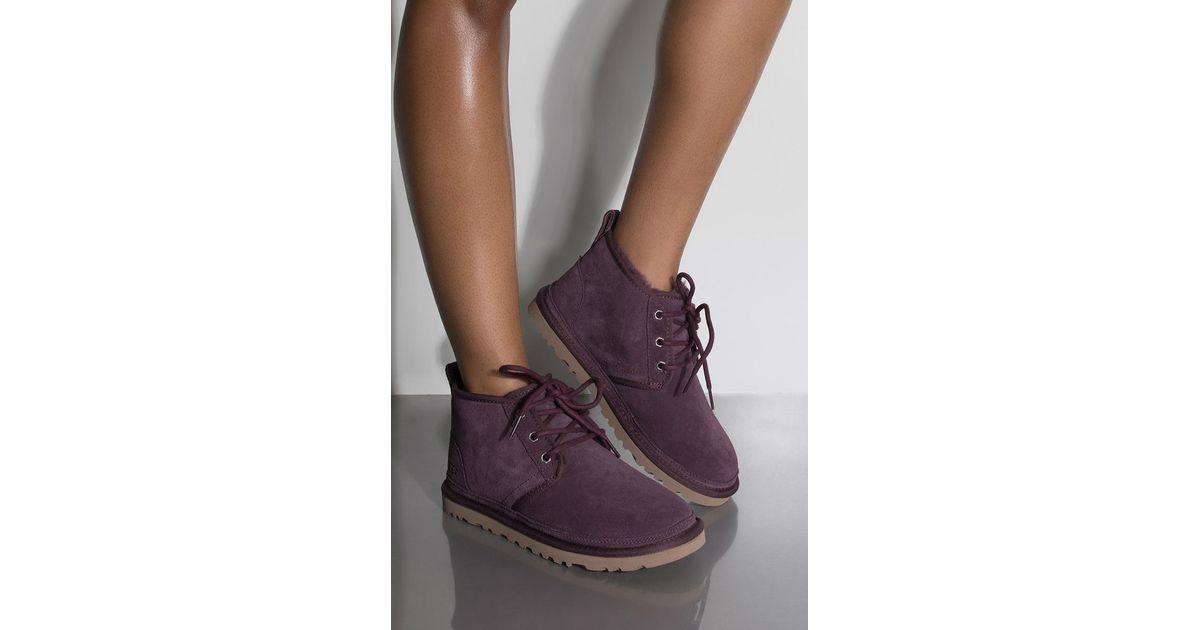 84e1937faa4 Akira Purple UGG Classic Neumel Lace Up Boots