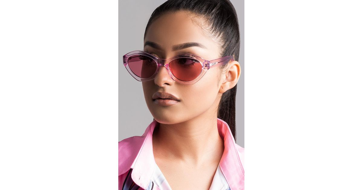26676c5fbe AKIRA Quay As If! Sunglasses in Pink - Lyst