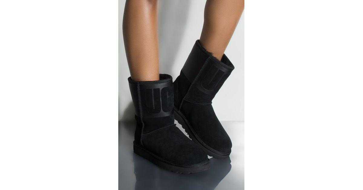 b0964ab905d Ugg Black Classic Short Rubber Boot