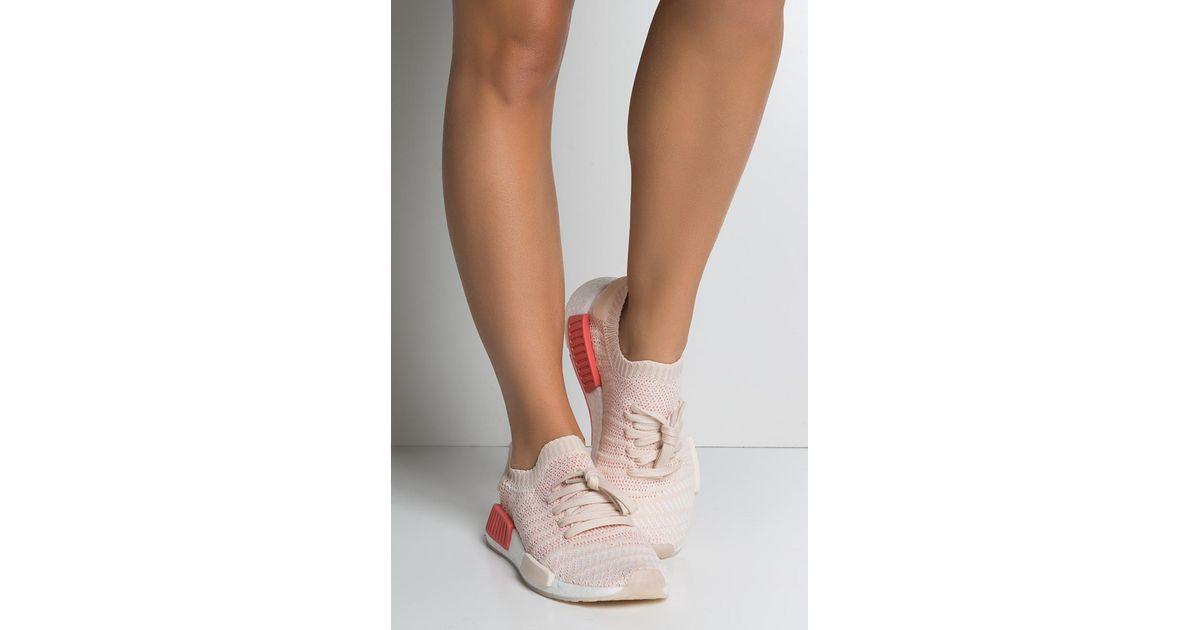 Lyst Adidas Womens Nmd R1 Stlt Primeknit In White