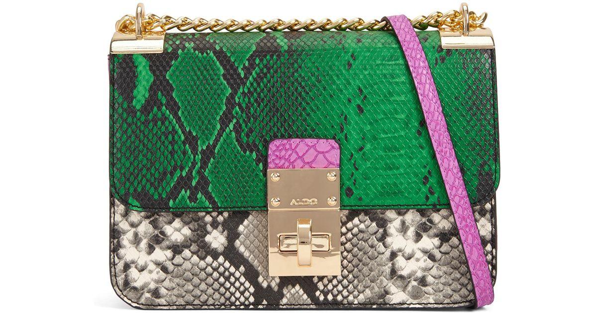 c78056d6e57 ALDO Colby Snake-embossed Cross-body Bag in Green - Lyst