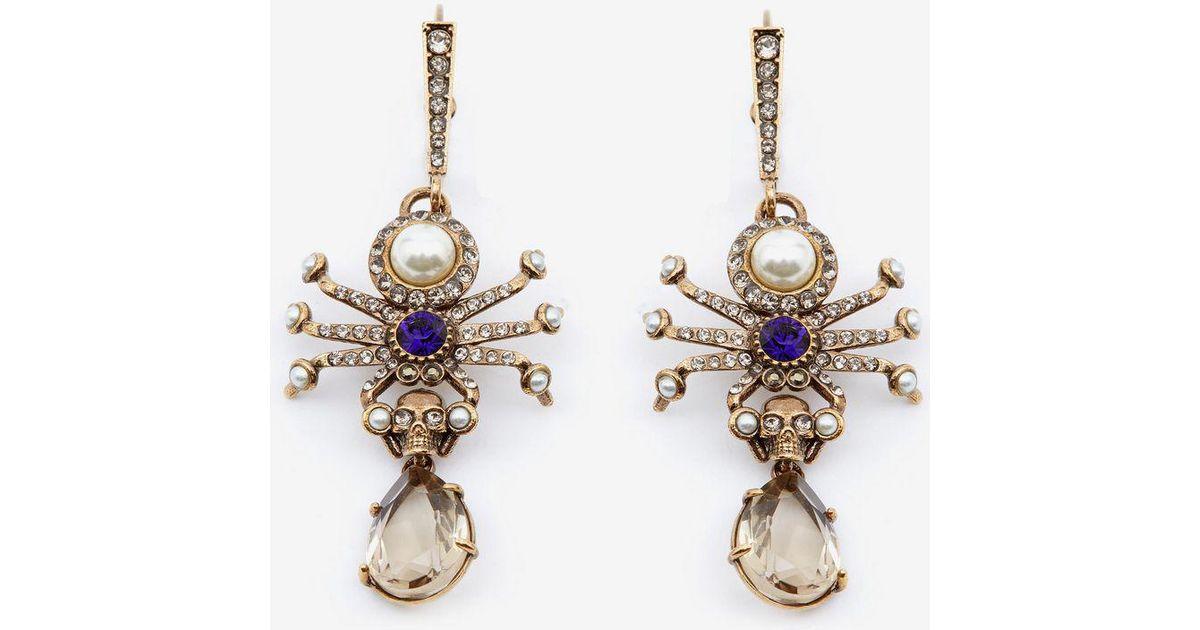 Alexander McQueen Spider earrings - Metallic skeRgpInP