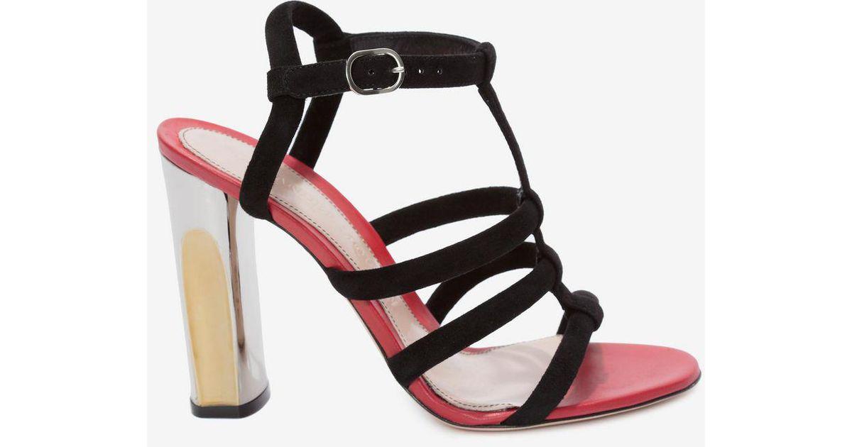 Alexander McQueen Sculpted heel sandal
