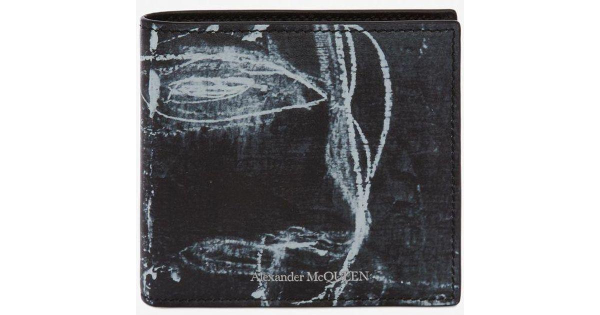 8a54247820 Alexander McQueen Black John Deakin Billfold Wallet for men