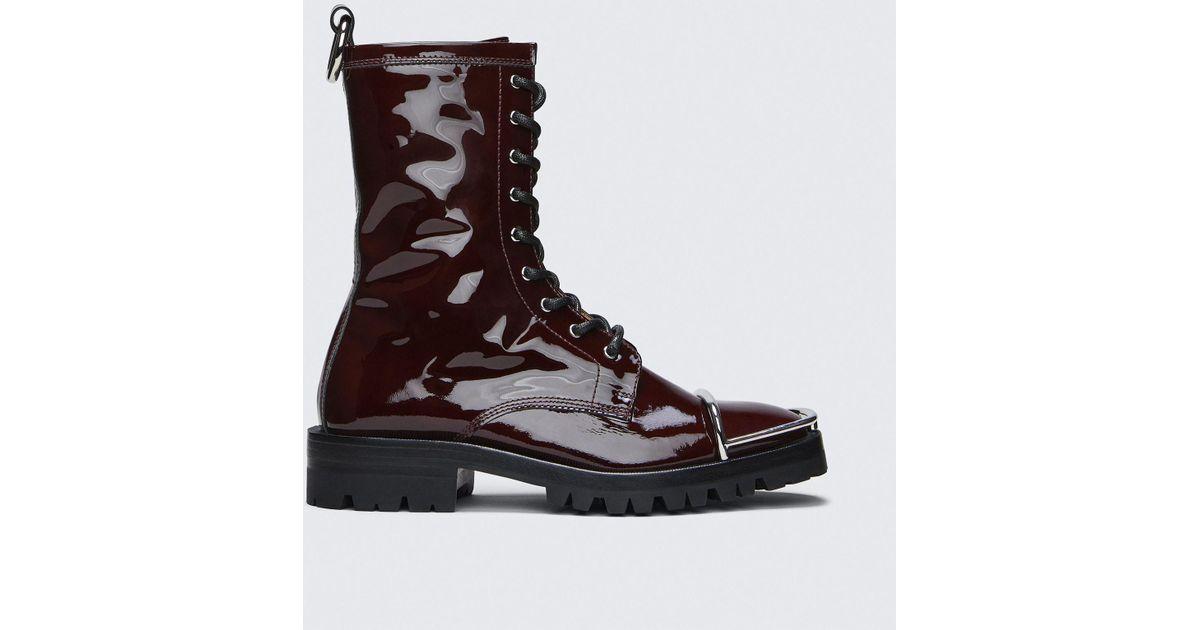 60bde573d62b Lyst - Alexander Wang Kennah Patent Boot