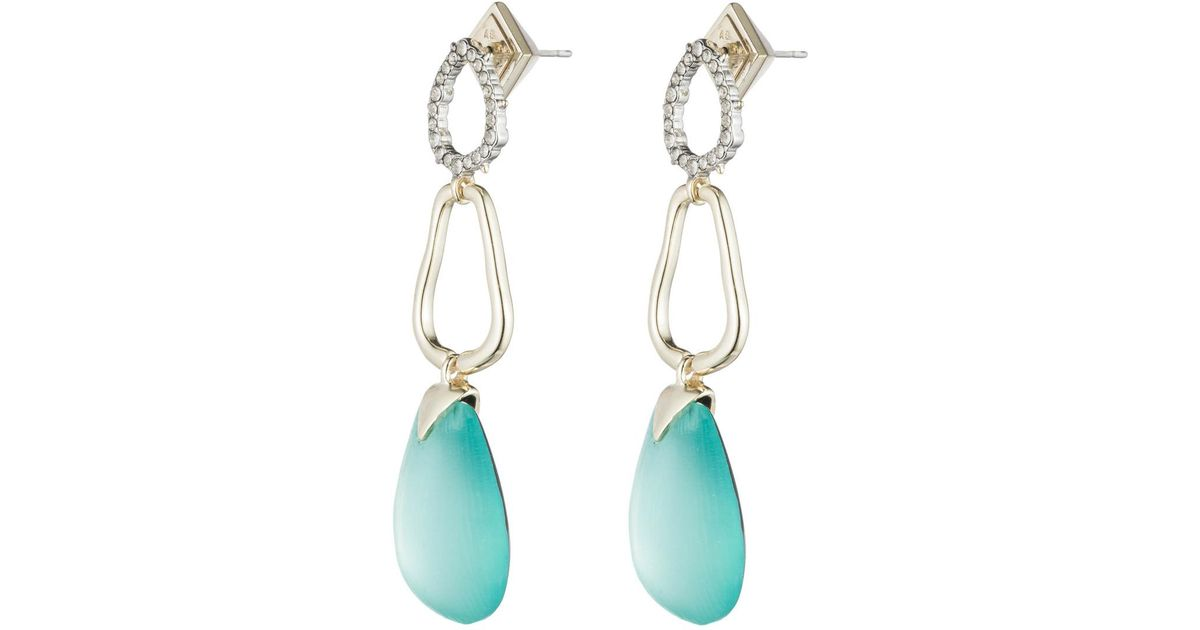 Alexis Bittar Crystal Encrusted Organic Pod Post Earring QBiCUS5L3