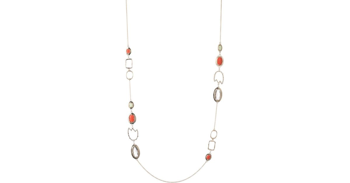 Alexis Bittar Crystal Encrusted Abstract Tulip Stone Station Necklace WnO6rNxS