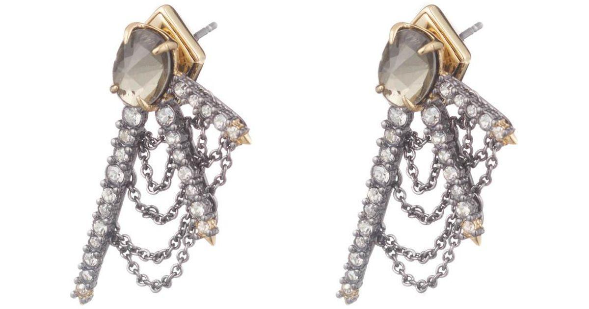 Alexis Bittar Draped Crystal Fringe Post Earrings zdHc77