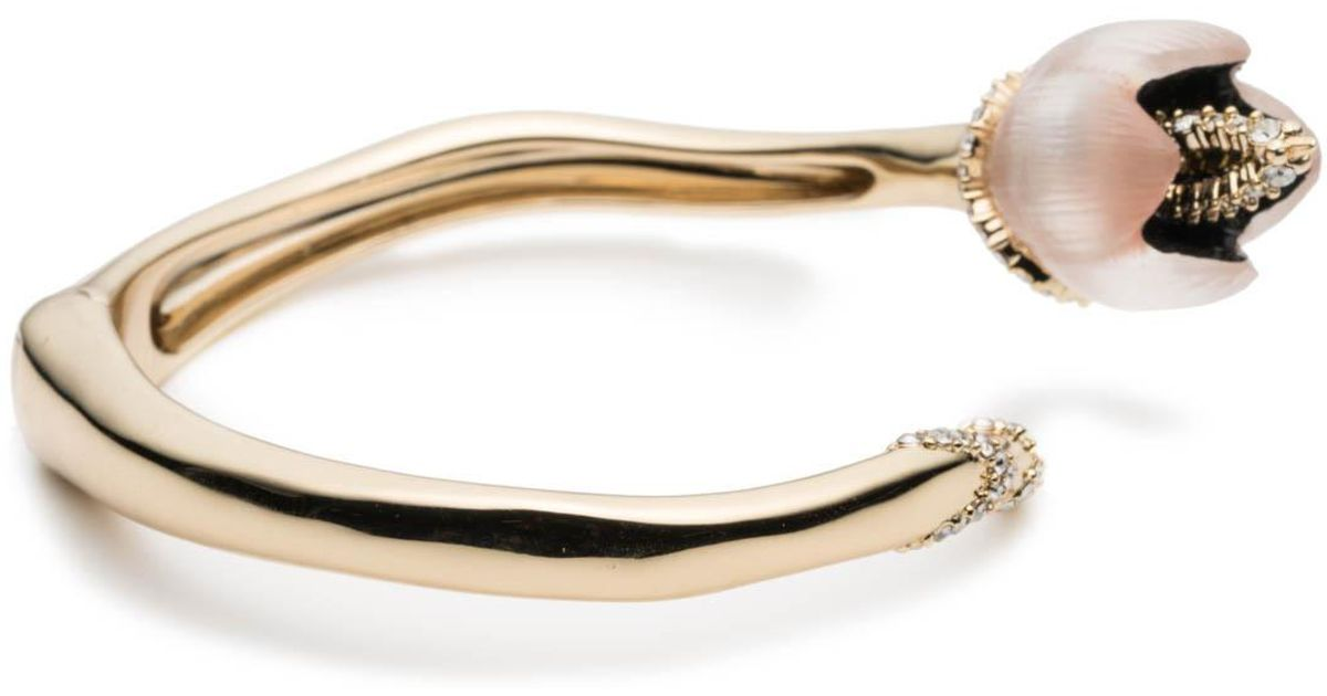 Alexis Bittar Crystal Encrusted Tulip Bypass Bracelet nVV9aDI