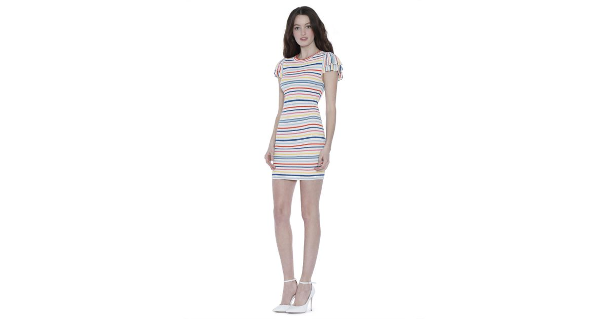 3b17861c45b Alice + Olivia Kellin Ruffle Sleeve Sweater Dress - Lyst