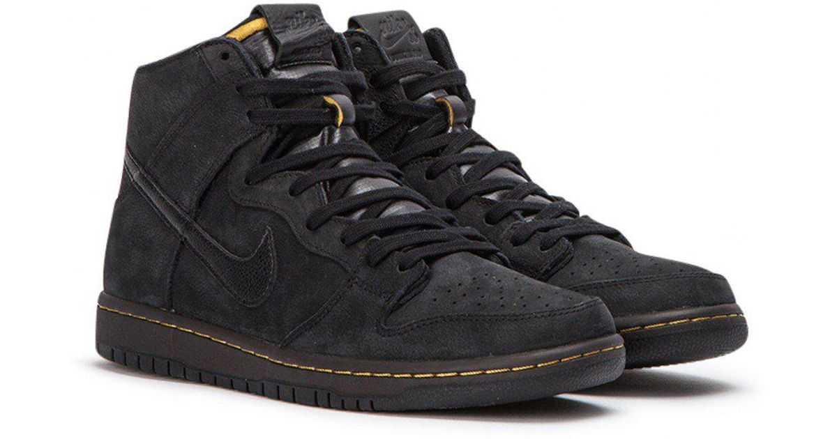 half off 44684 ca90d Nike Black Zoom Dunk High Pro Deconstructed Premium for men