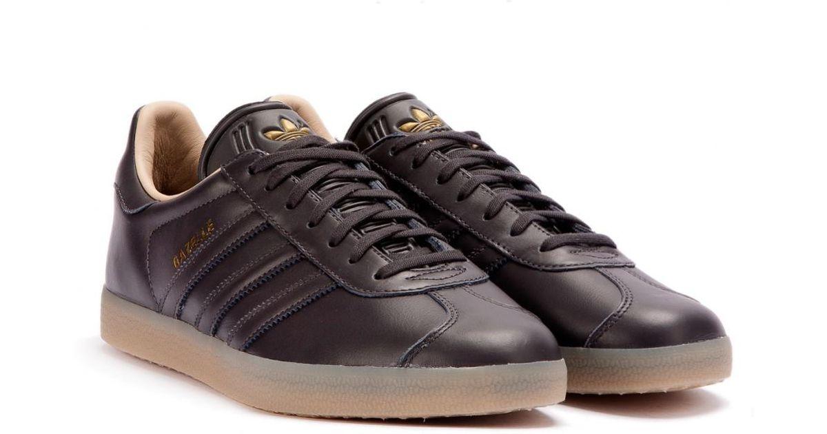 new style 94ab9 d1de9 adidas Gazelle Leather Premium in Black for Men - Lyst