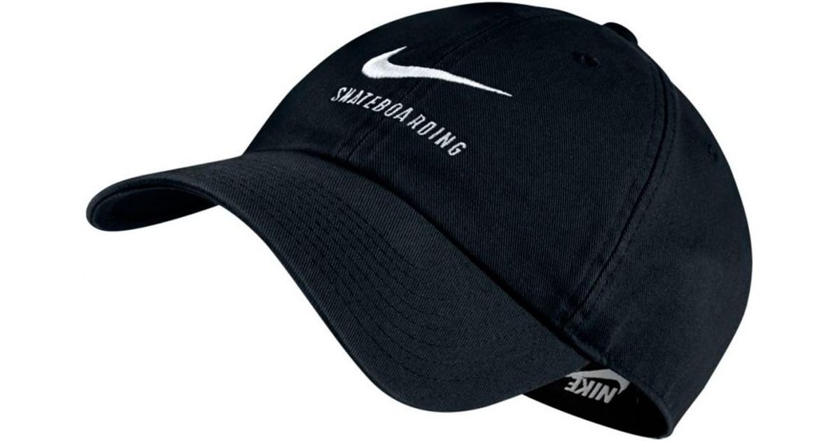 2d2accec4a9 Nike Nike Strapback Heritage 86 Twill Cap in Black for Men - Lyst