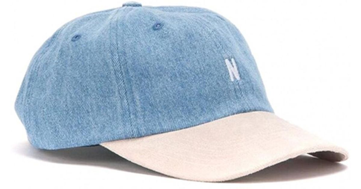 f9d986538e6 Lyst - Norse Projects Denim Sports Cap in Blue for Men