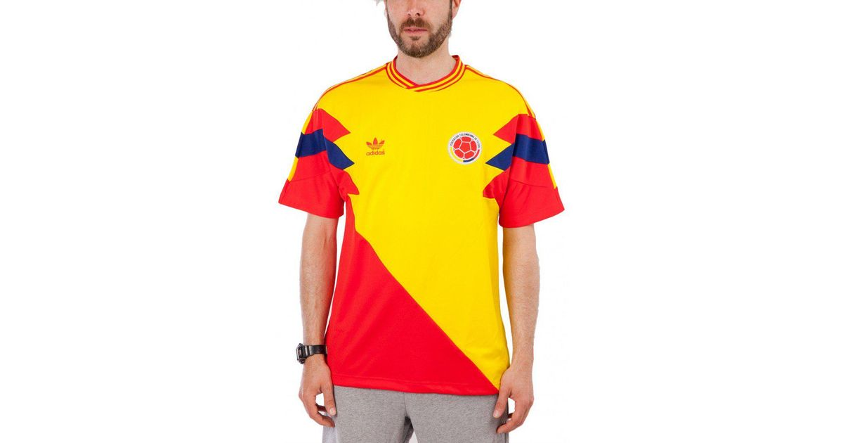 Lyst - adidas Colombia Mashup T-shirt in Yellow for Men d6e4d8d86