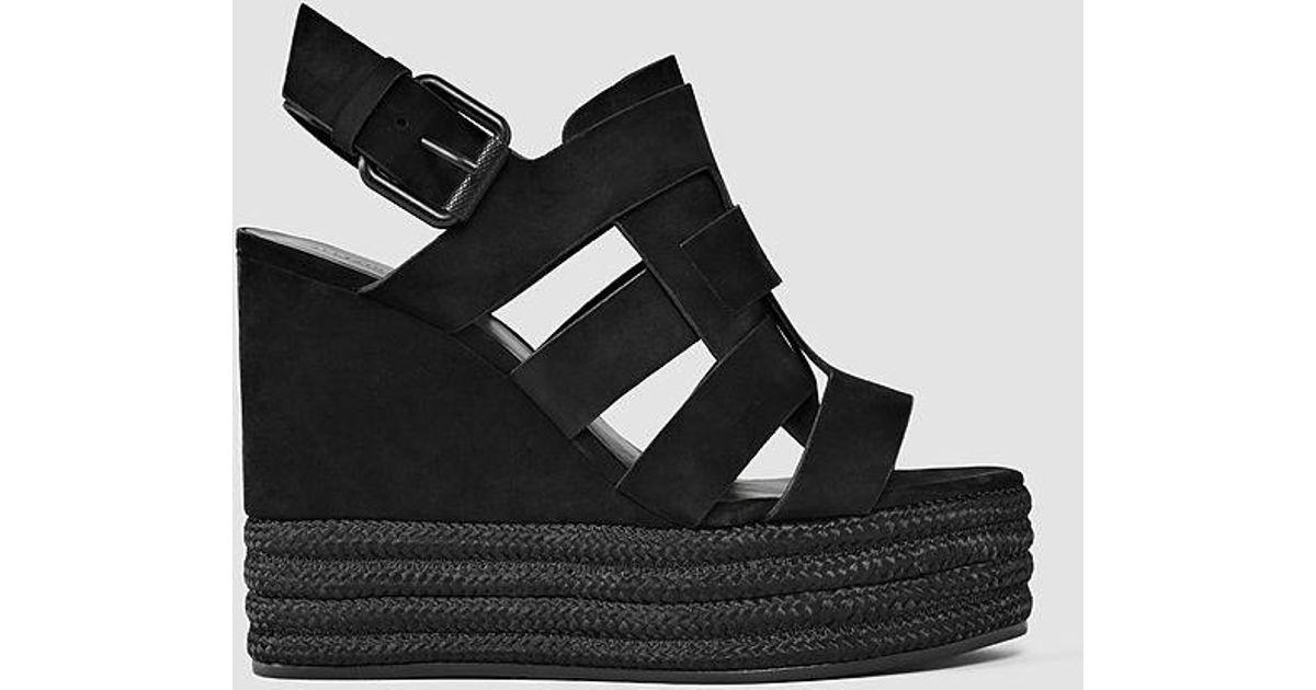 AllSaints Leather Marzee Wedge Sandal