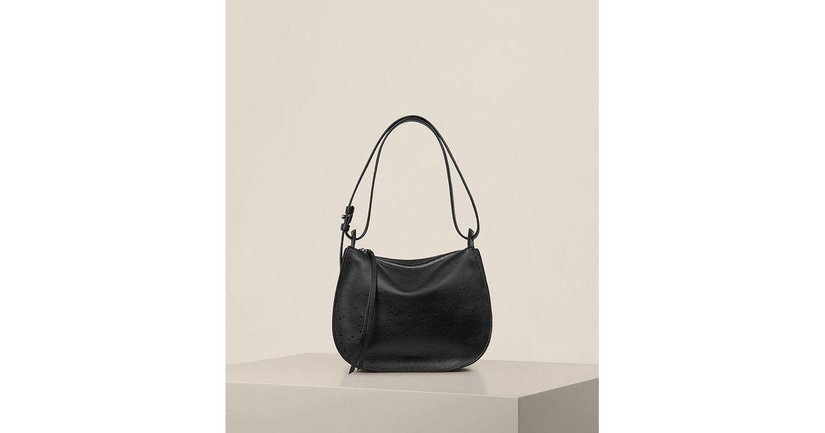 3cd63b25849c6 AllSaints Echo Mini Hobo Bag in Black - Lyst