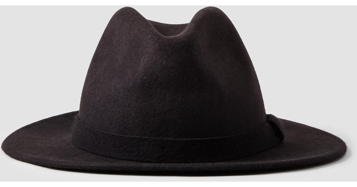 0b690a9f962bb AllSaints Bronson Fedora Hat in Purple for Men - Lyst