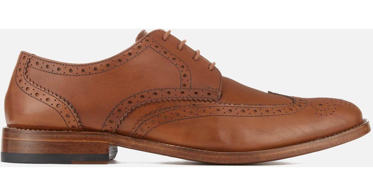 colegio Compuesto Agencia de viajes  Clarks James Wing Leather Brogues in Tan (Brown) for Men - Lyst