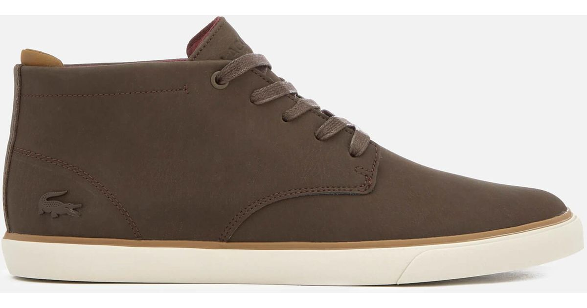 f8acfc430ff Lacoste Brown Esparre Chukka 318 1 Leather/suede Derby Chukka Boots for men