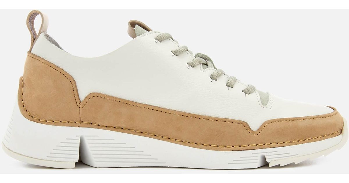 Clarks Tri Spark Leather Trainers in