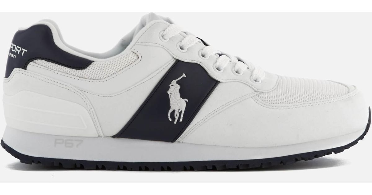 Lyst - Polo Ralph Lauren Slaton Pony Tech Leather/tech Suede Trainers in  White for Men